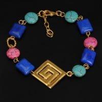 bratari-din-pietre-semipretioase-turcoaz-fucsia-albastru-si-pandantiv-spirala-vietii-stilizata-cultura-calima